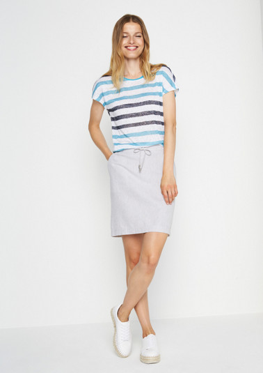 Delicate striped top with short sleeves from comma