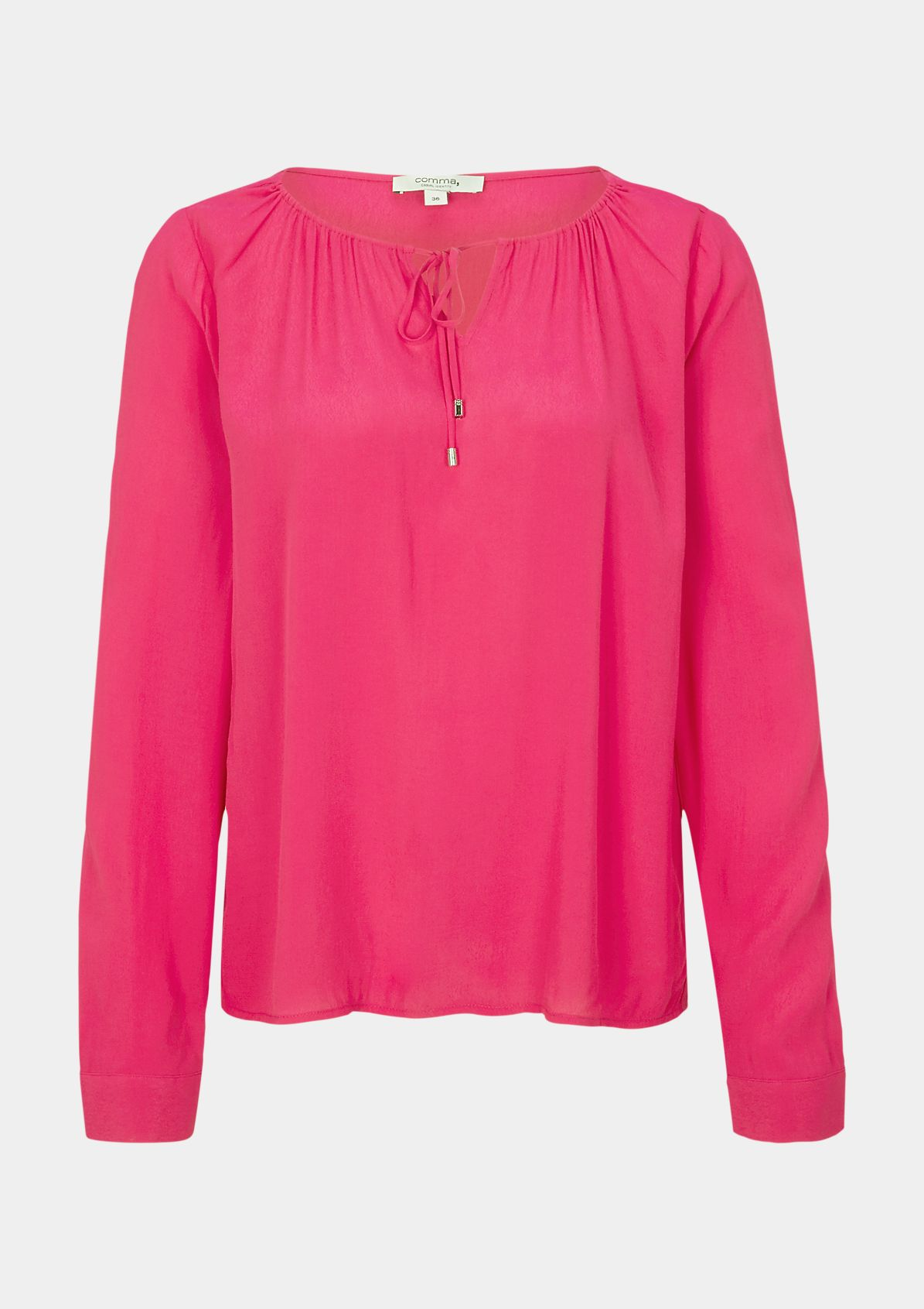 Delicate crêpe blouse with ties from comma