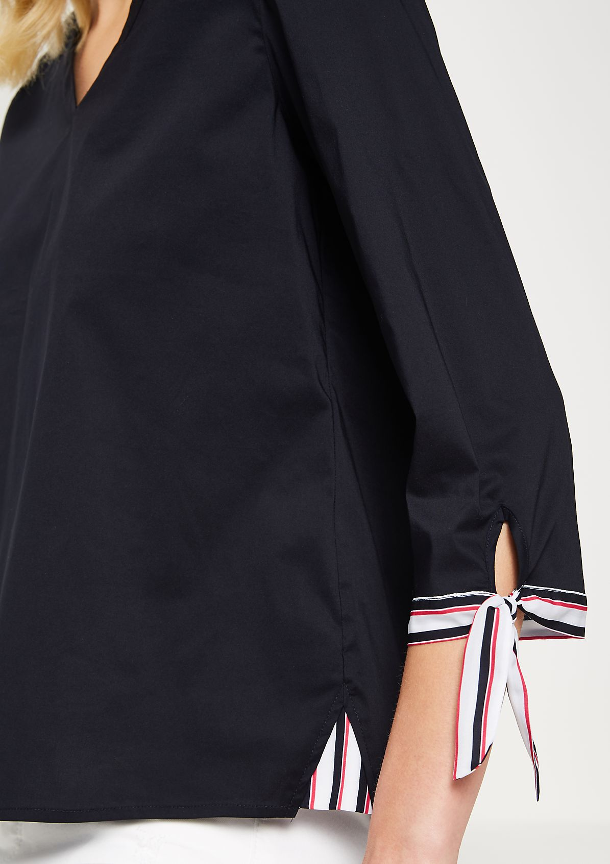 3/4-sleeve blouse with fine striped details from comma