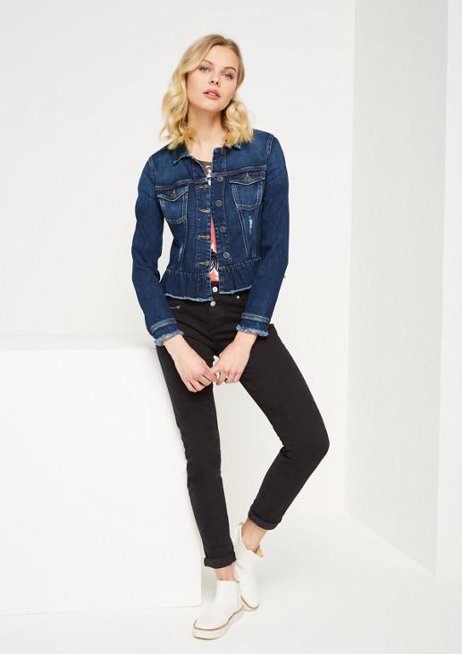 Jeansjacke im aufregenden Used-Look