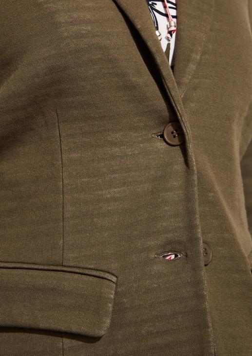 Leichter Jerseyblazer im gedecktem Streifenmuster