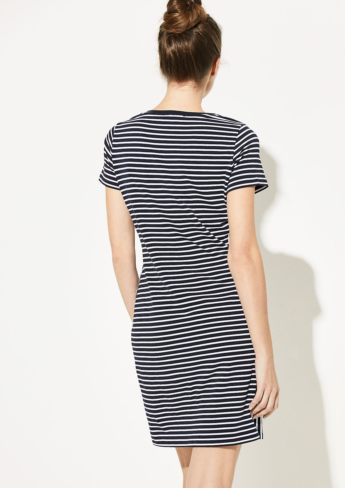 Casual shift dress made of jersey with a striped pattern from comma
