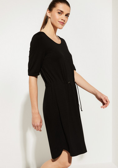 Sporty jersey dress with short sleeves from comma