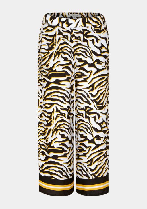 7/8-Loungepants mit dekorativem Allovermuster