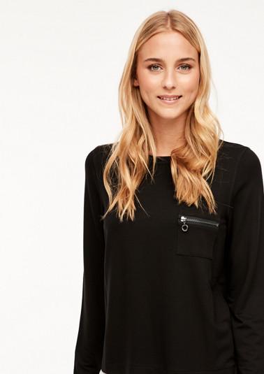 Lässiges Longsleeve-Shirt mit aufgesetzter Tasche
