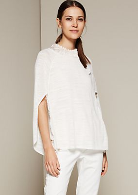 Delicate summer poncho with decorative fringing from s.Oliver