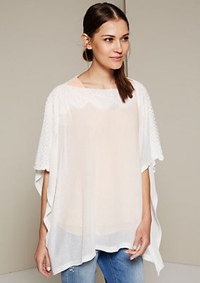 Lightweight summer poncho with an elegant lace trim from s.Oliver