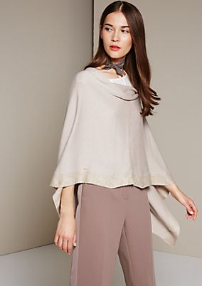 Extravagant knit poncho with a cowl neck from s.Oliver