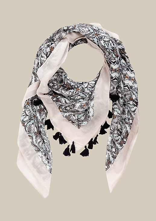 Lightweight scarf with a decorative all-over pattern from s.Oliver