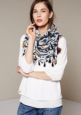 Leichter Schal mit dekorativem Allovermuster