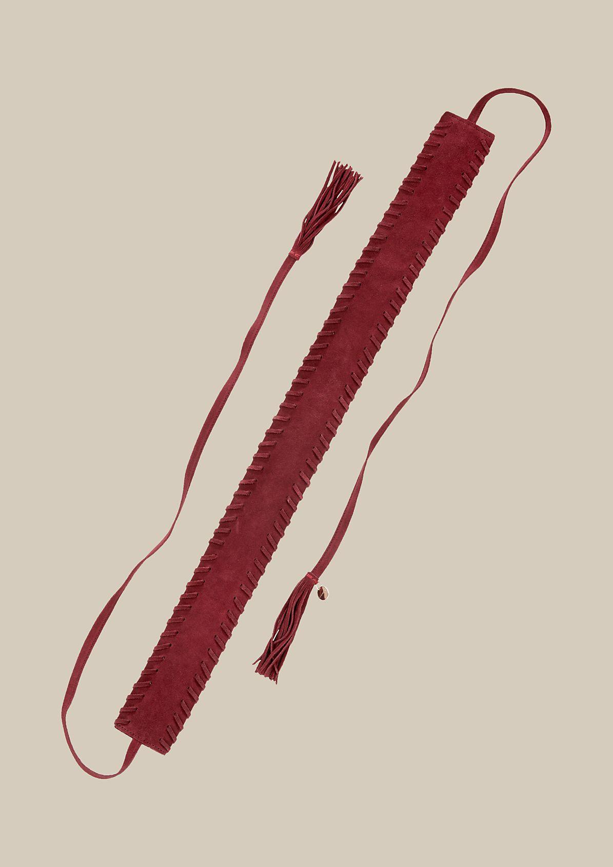 Extravaganter Wildledergürtel zum Binden