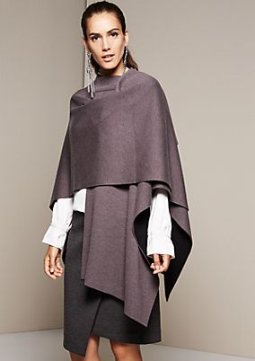 Smart knit poncho with fine details from s.Oliver
