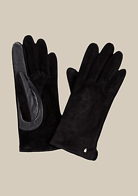 Beautiful glove in soft suede from s.Oliver