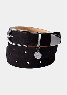 Elegant belt with a suede outer surface from s.Oliver