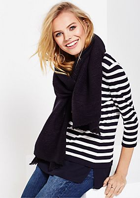 Cosy knit scarf in a ribbed look from s.Oliver