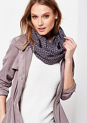 Delicate snood with a beautiful all-over pattern from s.Oliver