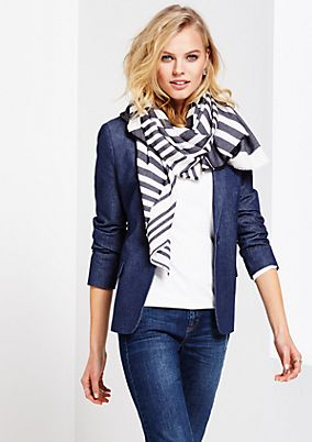 Soft scarf with stripes from s.Oliver