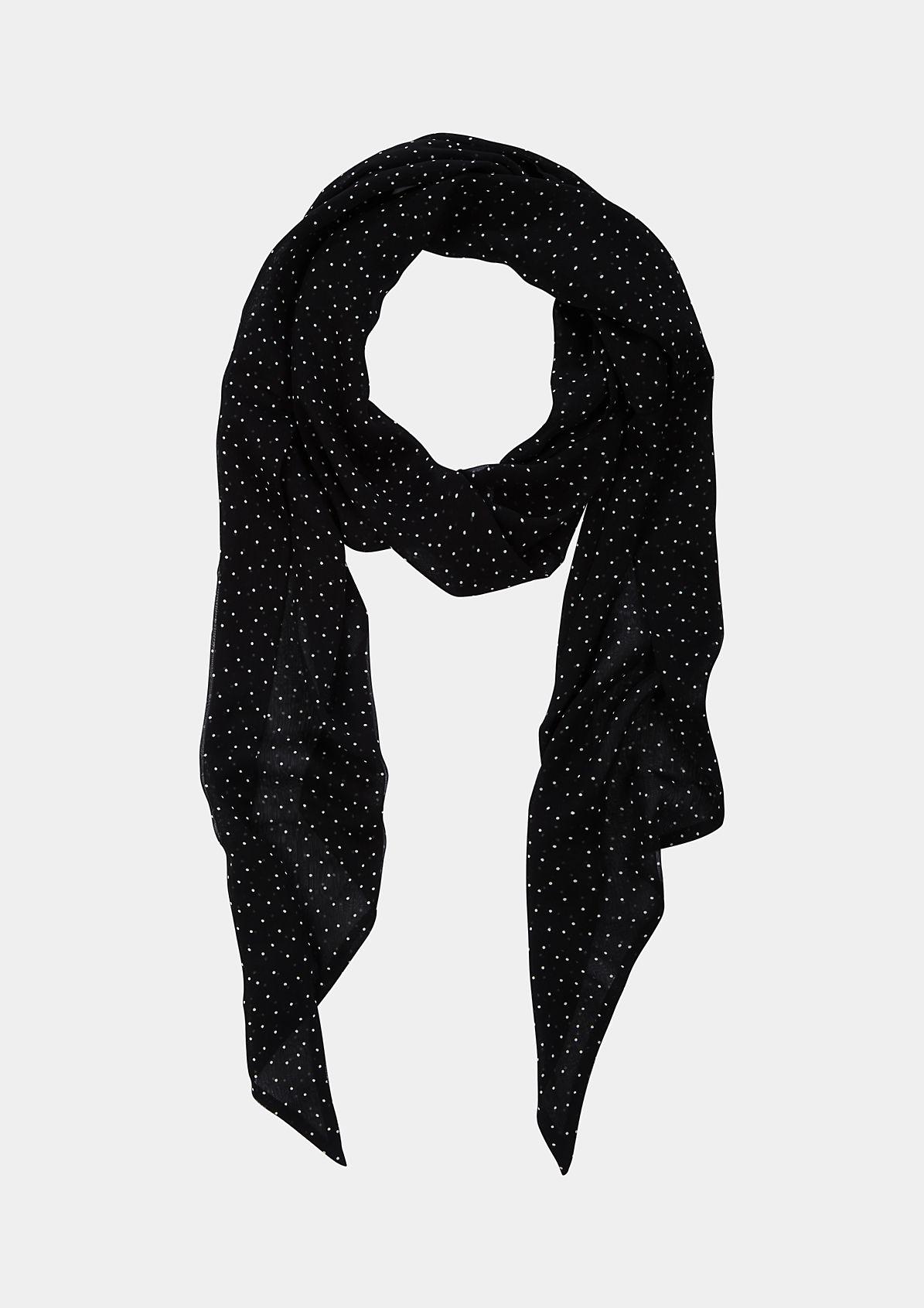 Schmaler Chiffonschal mit schönen Details