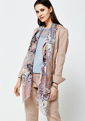 Delicate chiffon scarf with a lovely all-over pattern from s.Oliver