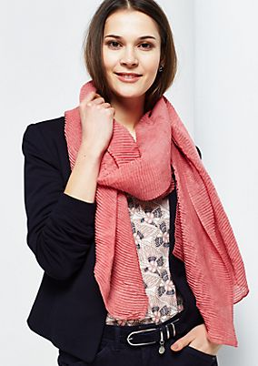 Soft scarf with a fine ribbed texture from s.Oliver