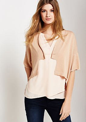 Smart knit bolero with short sleeves from s.Oliver