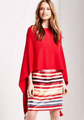 Lightweight poncho embellished with tassels from s.Oliver