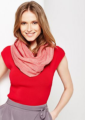 Softly draped snood with beautiful all-over pattern from s.Oliver