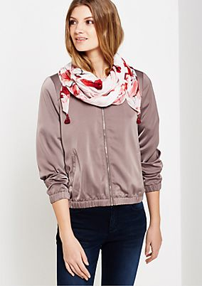 Delicate chiffon scarf with a colourful floral pattern from s.Oliver