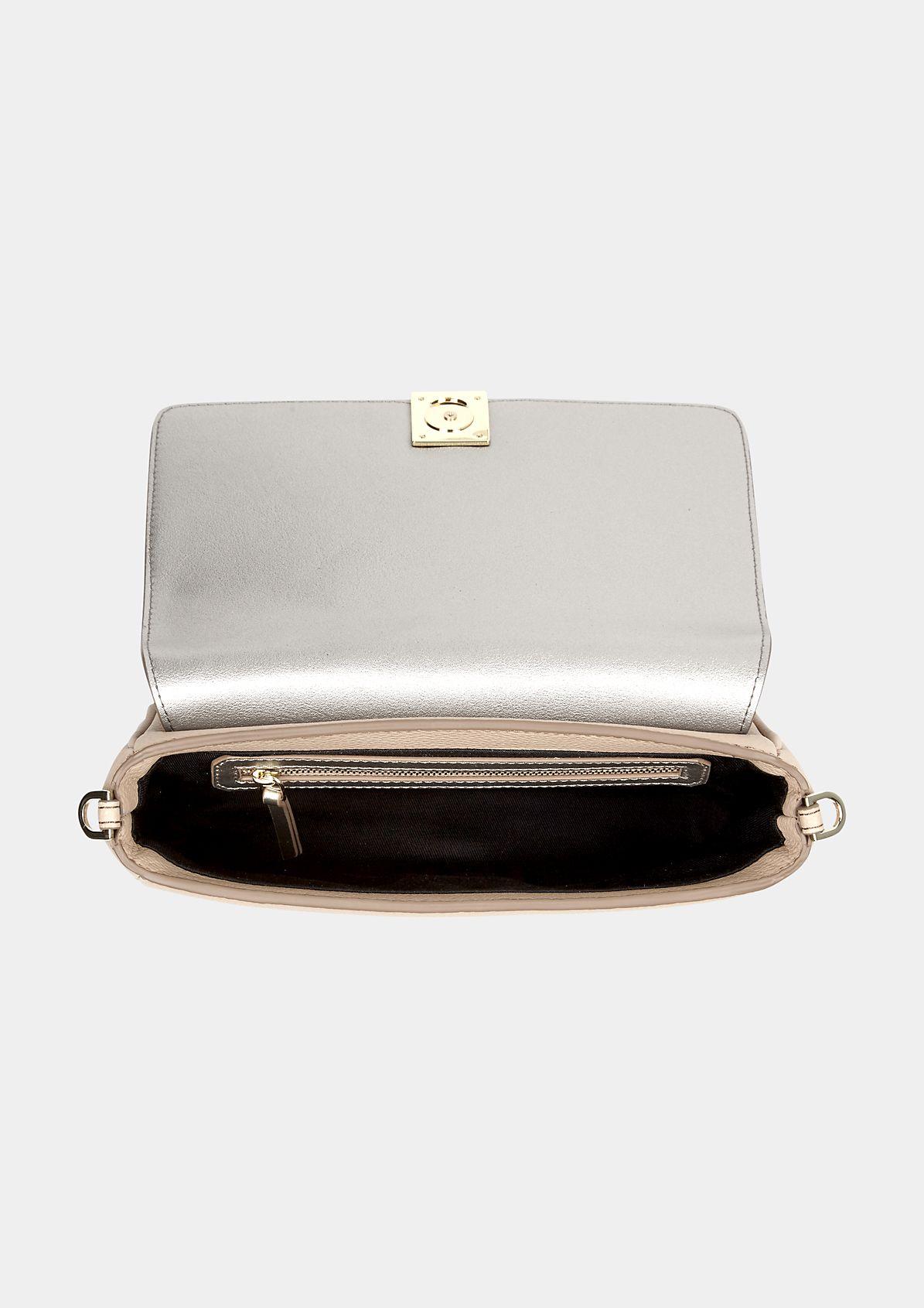 Klassische Abendtasche aus Fake-Leder