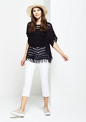 Casual knit poncho with short sleeves from comma