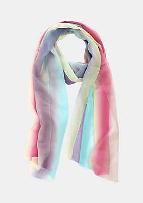 Delicate chiffon scarf with a colourful all-over print from s.Oliver