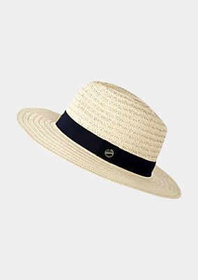 Classic straw hat with a wide hat band from s.Oliver