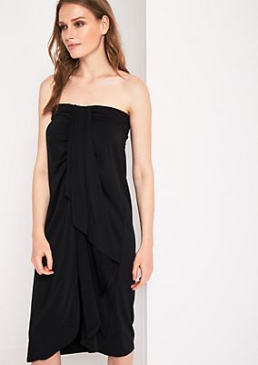 Strapless beach dress with a flounce trim from s.Oliver
