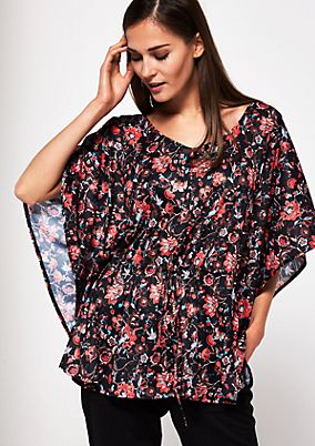 Tunic with a colourful, floral all-over print from s.Oliver