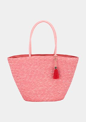 Voluminous summer shopper in woven straw from s.Oliver