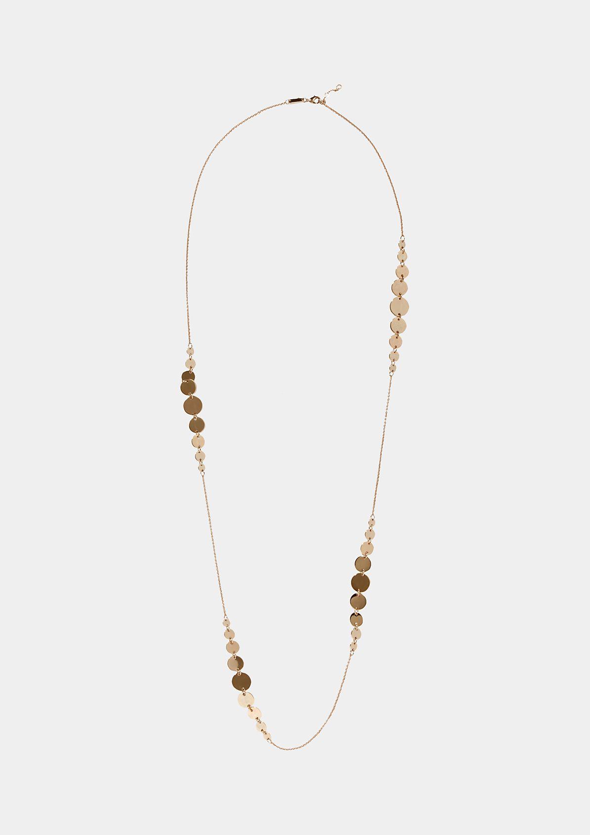 Filigrane Halskette mit Metallplättchenverzierungen