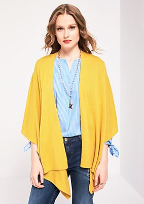 Soft knit thrown-on poncho from s.Oliver