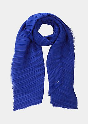 Pleated scarf with decorative fringing from s.Oliver