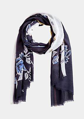 Delicate scarf with a colourful all-over print from comma