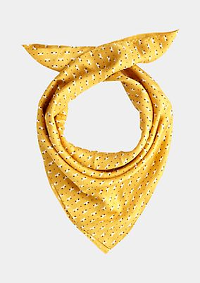 Elegant silk scarf with a decorative pattern from s.Oliver