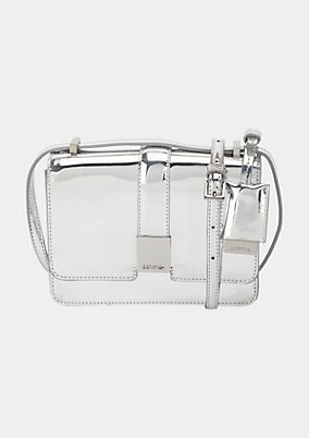 Extravagant evening bag with silver-coloured coating from comma