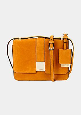 Elegant faux suede evening bag from s.Oliver