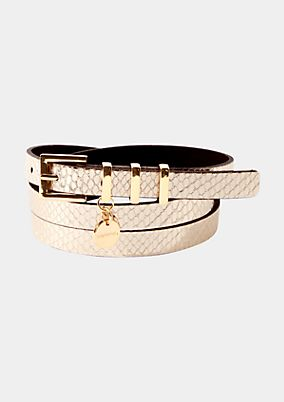 Thin belt in a snakeskin design from s.Oliver