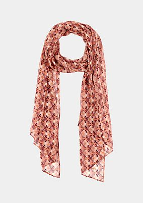 Delicate chiffon scarf with an all-over print from s.Oliver