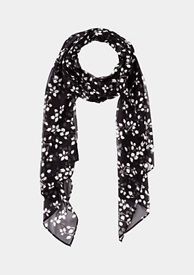 Delicate chiffon scarf with an all-over print from comma