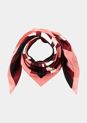 Elegant silk scarf with a decorative all-over pattern from s.Oliver