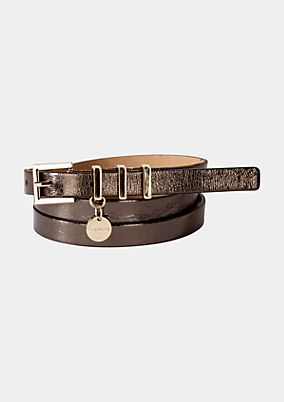 Thin belt with a glossy finish from s.Oliver