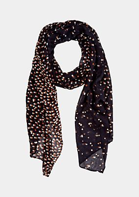 Delicate scarf with a colourful all-over pattern from s.Oliver
