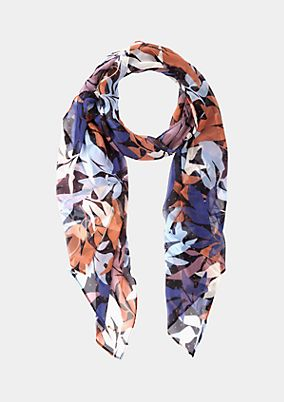Chiffon scarf with a lovely all-over pattern from s.Oliver