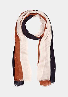 Delicate scarf in a striped look from comma